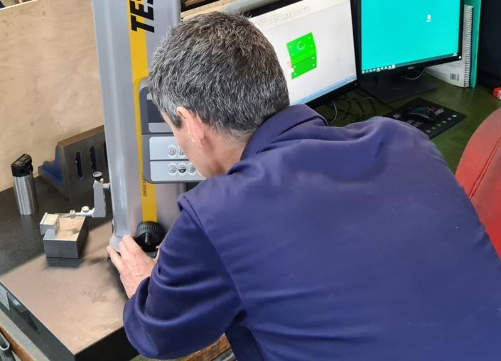Engineer woking in workshop