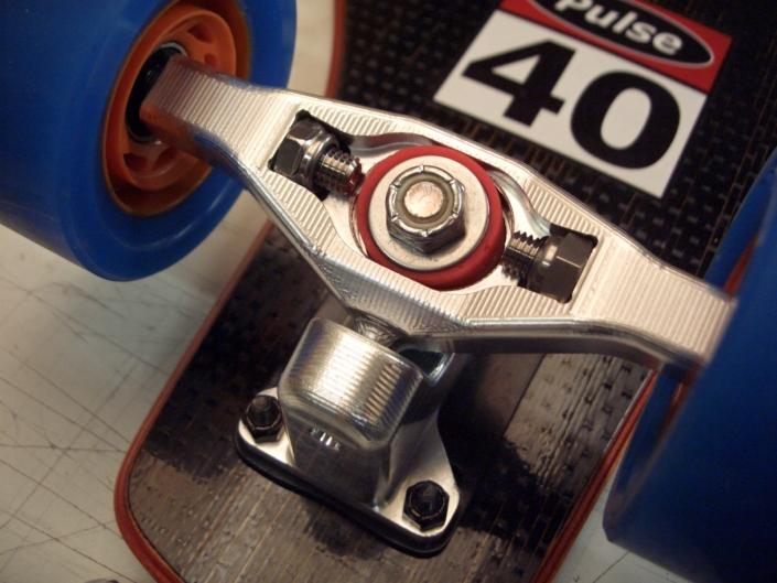 Skateboard deck wheels